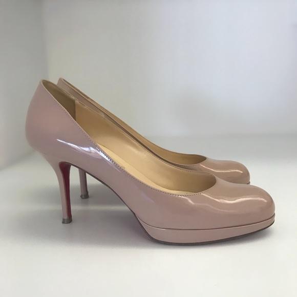 67f0161118a Christian Louboutin Shoes - Christian Louboutin Prorata nude Patent size 37